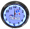 New England Patriots Double Neon Clock
