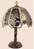 Rose and Butterflies Touch Lamp - Black Chrome