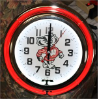 Wisconsin Badgers Double Neon Clock