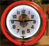 Chicago Blackhawks Double Neon Clock