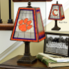 Clemson Tigers - Art Glass Table Lamp