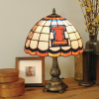 Illinois Fighting Illini - Stained-Glass Tiffany-Style Table Lamp