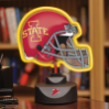 Iowa State Cyclones - Neon Helmet & Cap Desk Lamp