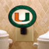 Miami Hurricanes - Art Glass Night Light