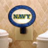 Navy Midshipmen - Art Glass Night Light