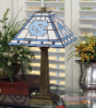 North Carolina Tar Heels - Stained-Glass Mission-Style Table Lamp