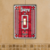 Nebraska Cornhuskers - Single Art Glass Light Switch Cover