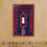 Boston Red Sox - Single Art Glass Light Switch Cover