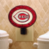 Cincinnati Reds - Art Glass Night Light