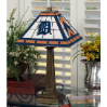 Detroit Tigers - Stained-Glass Mission-Style Table Lamp
