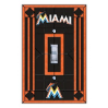 Miami Marlins - Single Art Glass Light Switch Cover