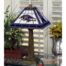 Baltimore Ravens - Stained-Glass Mission-Style Table Lamp