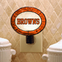 Cleveland Browns - Art Glass Night Light