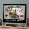 New Orleans Saints Super Bowls - Framed Mirror
