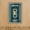 New York Jets - Single Art Glass Light Switch Cover
