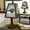 St. Louis Rams - Art Glass Table Lamp