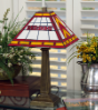Washington Redskins - Stained-Glass Mission-Style Table Lamp