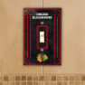 Chicago Blackhawks - Single Art Glass Light Switch Cover