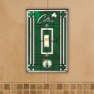 Boston Celtics - Single Art Glass Light Switch Cover