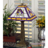 East Carolina Pirates - Stained-Glass Mission-Style Table Lamp