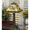 Georgia Tech Yellow Jackets - Stained-Glass Mission-Style Table Lamp