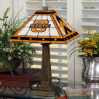 Oklahoma State Cowboys - Stained-Glass Mission-Style Table Lamp