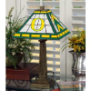 Oregon Ducks - Stained-Glass Mission-Style Table Lamp