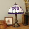 Texas Christian Horned Frogs - Stained-Glass Tiffany-Style Table Lamp