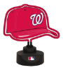 Washington Nationals - Neon Helmet & Cap Desk Lamp