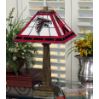 Atlanta Falcons - Stained-Glass Mission-Style Table Lamp