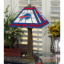 Buffalo Bills - Stained-Glass Mission-Style Table Lamp