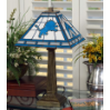 Detroit Lions - Stained-Glass Mission-Style Table Lamp