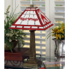 Detroit Red Wings - Stained-Glass Mission-Style Table Lamp