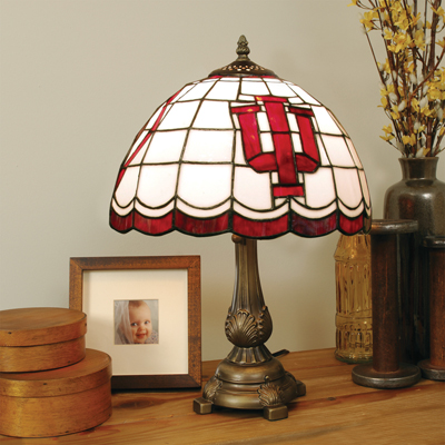Indiana Hoosiers Stained Glass Tiffany Style Table Lamp