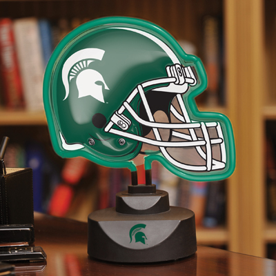 Surprising Michigan State Spartans Neon Helmet Cap Desk Lamp At Home Interior And Landscaping Palasignezvosmurscom