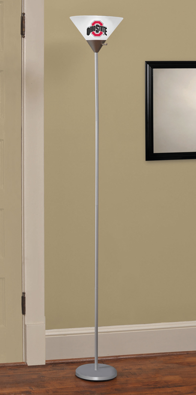 Ohio State Buckeyes Torchiere Floor Lamp At