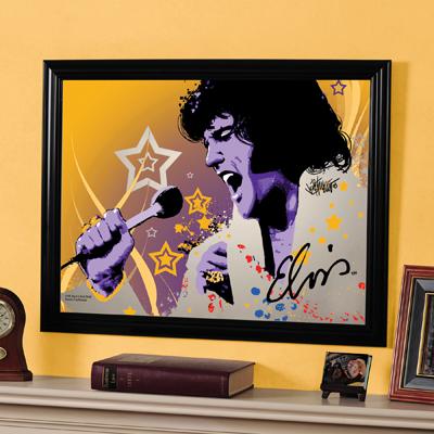 Elvis Presley Framed Mirror At Sportsfanprolighting Com