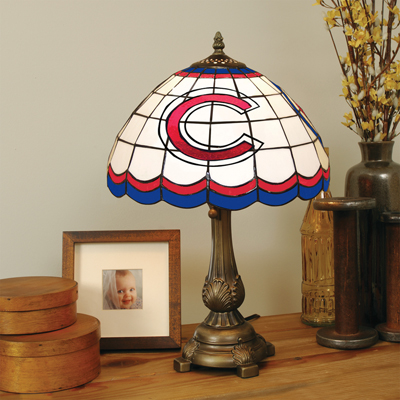 Chicago Cubs Stained Glass Tiffany Style Table Lamp