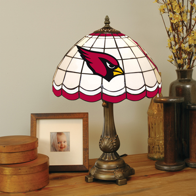 Arizona Cardinals Stained Glass Tiffany Style Table Lamp