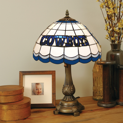 Dallas Cowboys Stained Glass Tiffany Style Table Lamp At