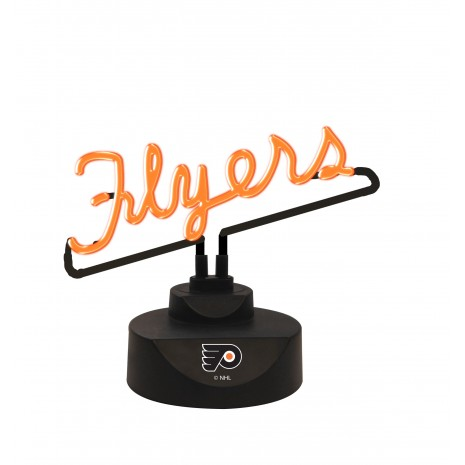 Neon logo desk lamp the memory company wvu
