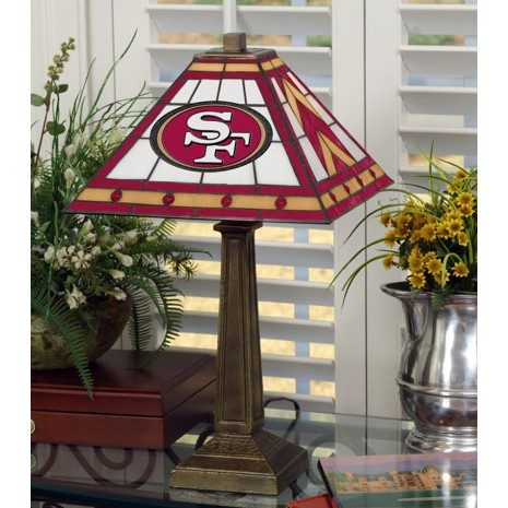 San Francisco 49ers Stained Glass Mission Style Table Lamp At